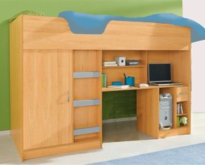 Lifestyle High Bed Beech