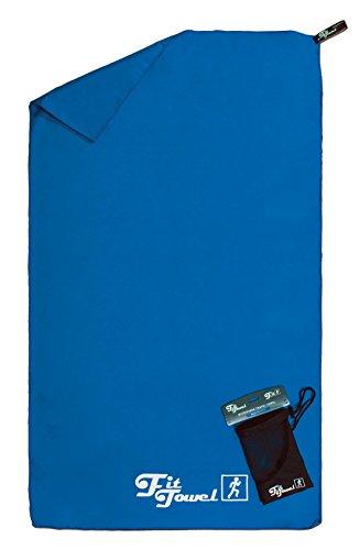 comprar  Toalla de microfibra perfecta para el ejercicio, el campamento, el gimnasio, los viajes, la playa y más Azul Grande [150x90cm]