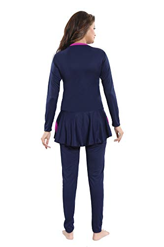Aquado Womens Full Body Polyester Swimsuit (U.V.Protection) Padded (Navy, XX-Large)