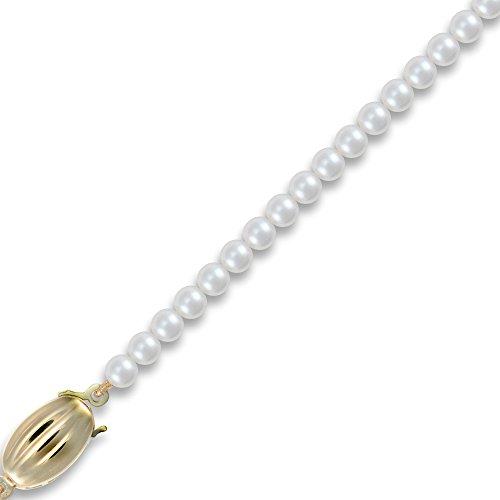 Jewelco Londres 9K fermoir en or akoya perle collier élégant 4-4.5mm