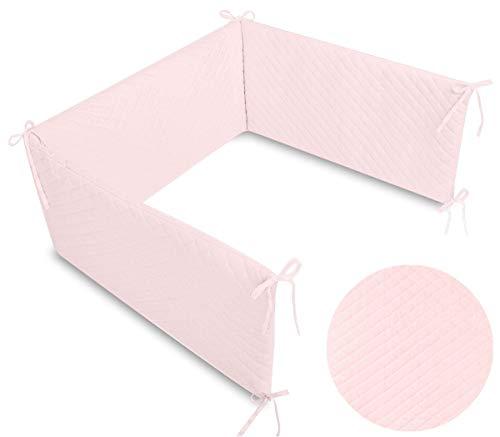 Callyna® - Tour de lit Velvet évolutif déhoussable douceur extrême, tissu haut de gamme, 100% Union Européenne. Rose