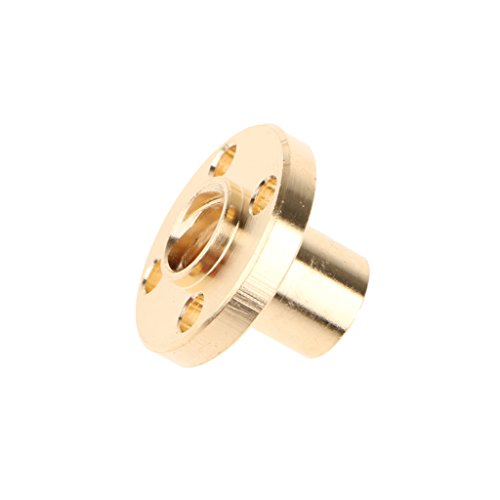 Segolike Brass Flange Trapezoidal 4 Start Nut for 3D Printer Z Axis 8mm Lead Screw  available at amazon for Rs.210