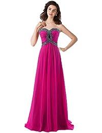 771fd07d15a86 Vimans® Elegante Lungo Sweetheart Pieghettato Chiffon Prom Abiti da Sera per  Donne