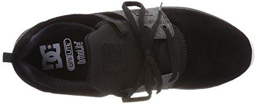 DC Shoes Heathrow Se, Baskets Homme Schwarz (Black Wash Bw8)