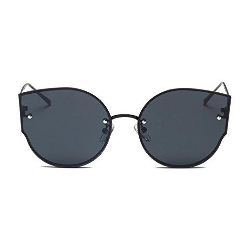 Unisex Goggles Brillen Rosennie Damen Vintage Cat Eye Spiegel stilvolle Retro Klassische Sonnenbrille Klassische Sommer Feiertag Glasses Damensonnenbrille Herrensonnenbrille Flieger Gläser (Schwarz)
