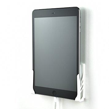 Dockem Koala Wall Mount 2.0 - Universal Wandhalterung für Smartphone, Tablet, eReader - Für iPad 1, 2, 3, 4, Air, Mini, iPad Pro, Samsung Galaxy Tab / Note, Google Nexus, Microsoft Surface - Weiß