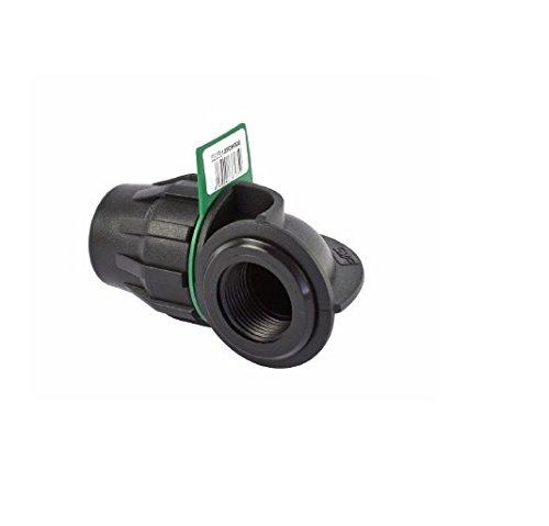SYR Brico Fitting – Coude 90 ° Filetage Femelle, 18 x 6 x 7 cm, Couleur Noir