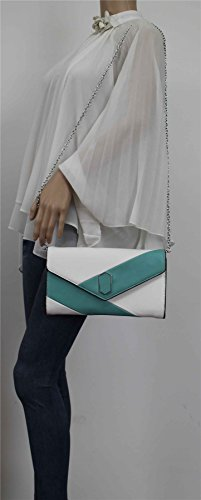SwankySwans , Damen Clutch One Size Aqua Sea