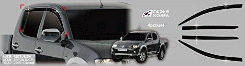 Autoclover Windabweiser-Set - für Doppelkabine (insgesamt 4 Stück) (getönt)