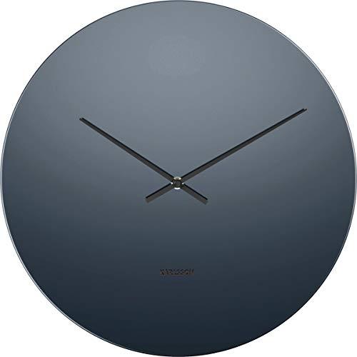 Karlsson Mirage Uhr, Wanduhr, Glas, Schwarz, One Size