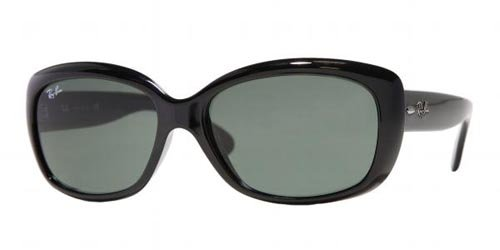 Ray-Ban per donna RB4101 601 (JACKIE OHH) - 58 mm (BLACK/crystal green)
