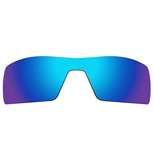 Acompatible Ersatzgläser für Sonnenbrille Oakley Oil Rig 1. Gen., Blue Purple Mirror - Polarized, S