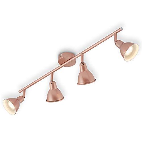 Briloner Leuchten Lámpara de Techo LED, cobriza con diseño Retro/Vintage, iluminación, 4...