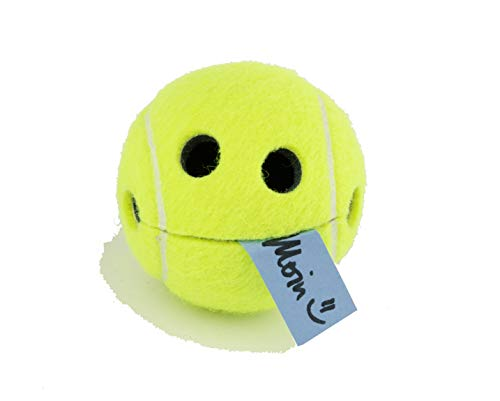 Notizhalter lustig einzigartiger Smile Happy Tennisball mit hochwertigem Saugnapf in transparenter Geschenkbox Geschenk Tennis Originalprofiball WILSON Dekoration Aufbewahrung Geschenkidee