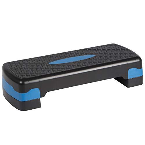 Ultrasport Aerobic Step, Steppbrett - Aerobic höhenverstellbar Fitness Stepper, Schwarz/Blau