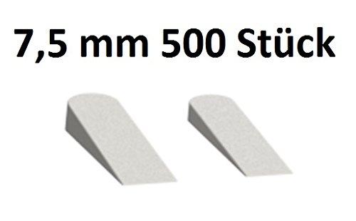 Fliesenkeile 7,5mm hoch 500 Stück Peygran