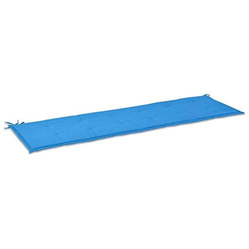 vidaXL Gartenbank-Auflage 180x50x3 cm Blau Sitzkissen Bankkissen Bankauflage