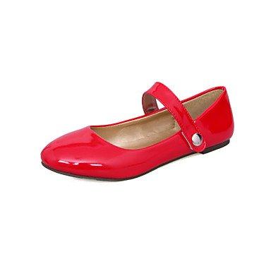 Confortevole ed elegante piatto scarpe donna Appartamenti Primavera Estate Autunno scarpe e borse di corrispondenza similpelle Office & Carriera Abbigliamento Sportivo tacco piatto gancio & LoopBlack  Red
