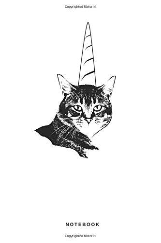 Notebook: Liniertes Notizbuch Einhorn Katze Meow Unicorn Horn Fabelwesen Tier Hipster Tierliebhaber Journal Taschenbuch Männer und Frauen