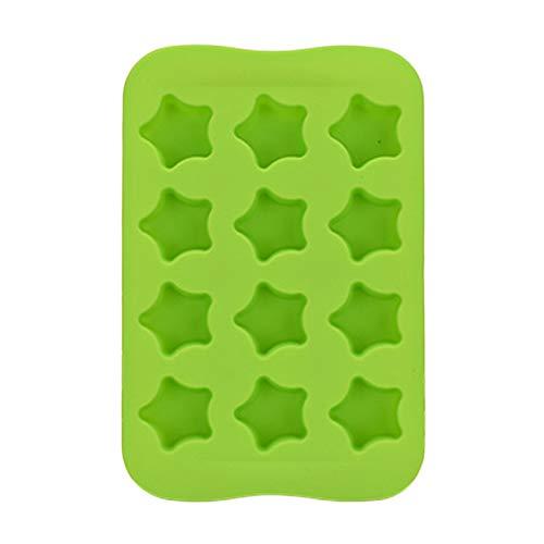CTGVH Silikon-Eiswürfelschalen, 1 Stück Eiswürfelform Set mit 12 Eiswürfelformen aus Gummi, Kunststoff, Mini-Cocktail, Whisky, Eiswürfelform, grün, 18.3 * 12.3 * 3cm (Silikon-brownie-biss)