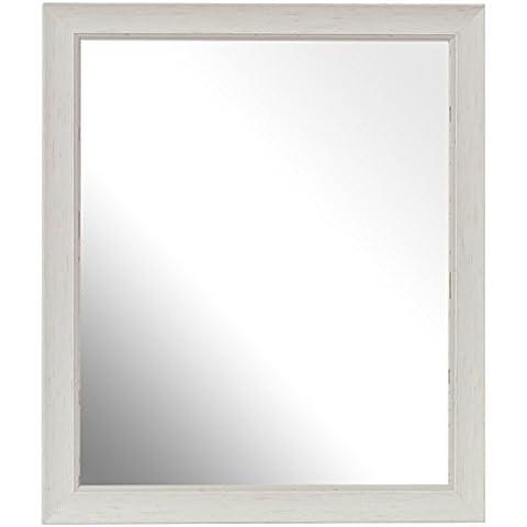 Inov8 7 x 12,7 cm marco de madera para lavar British Tamaño pequeño espejo, madera de nogal