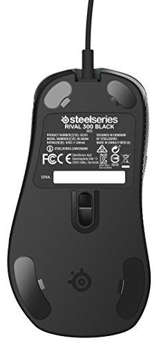 SteelSeries Rival 300 Optische Gaming-Maus (6 Tasten, Gummierte seitliche Griffflächen) schwarz - 7
