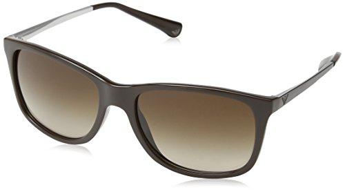 Armani Unisex Sonnenbrille EA4023, Gr. Large (Herstellergröße: 57), Braun (Dark Brown 519613)
