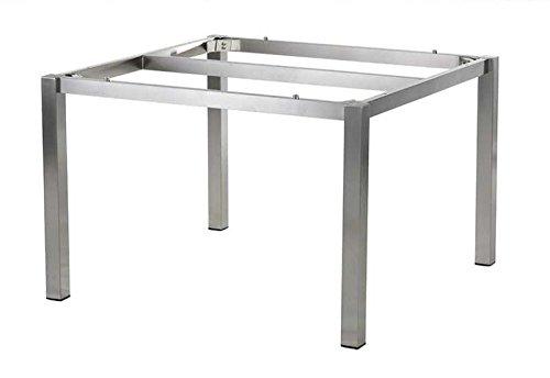 Diamond Garden Tischgestell Edelstahl San Marino 98 cm für DiGaCompact Tischplatten Abmessungen: 98 x 98 x 72 cm Material Gestell: Edelstahl Platte: Ohne Platte