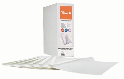 Peach PBT406-04 Thermobindemappe, A4, 40 Blätter, 80 g/m², 100 Stück, weiß - Peach Blättern
