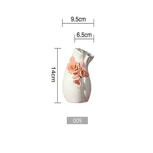gengyouyuan Keramikvase Hochzeit Neue chinesische einfach kreativ kneifen Zimmer Wohnzimmer Tisch Couchtisch Arbeitsplatte TV Schrank dekorative Blume -