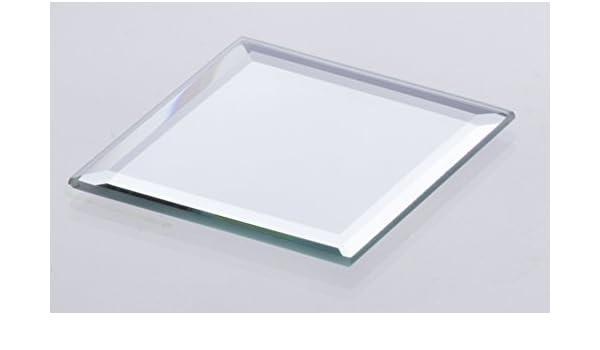 Miroir d/écoratif // Bougeoir miroir Porte-bougie // Plateau miroir carr/é BABSI 18x18x0,5 cm INNA Glas