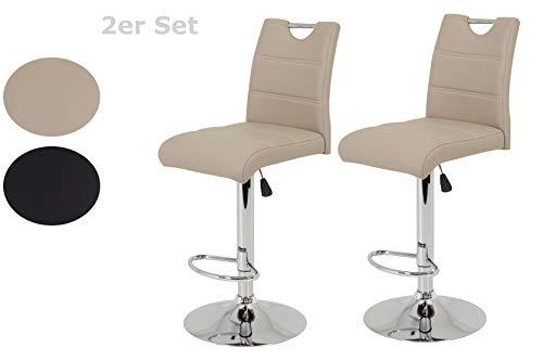 randa, Kunstleder Cappuccino, Trompetenfuß mit Lift und 360° drehbar, Sitzhöhe 60 auf 82 cm ()