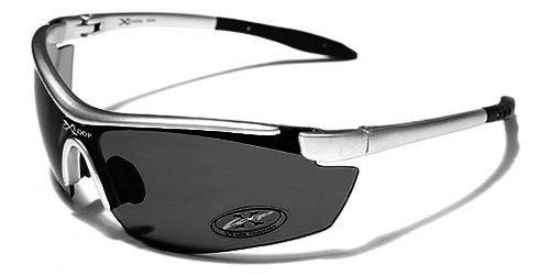 X-Loop Lunettes de Soleil - Sport - Cyclisme - Ski - Conduite - Moto/Mod. 3550 Gris Clair/Taille Unique Adulte/Protection 100% UV400