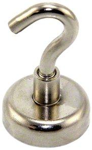 Magnet Expert® 25mm diamètre néodyme verrouillage aimant, M5 crochet, 20kg force d'adhérence