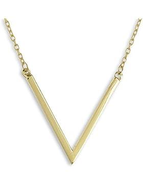 Collier mit V aus 333 echt Gold