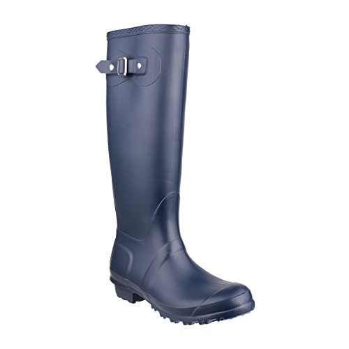 Cotswold Ladies Sandringham Buckled Welly Wellington Boot Navy Navy