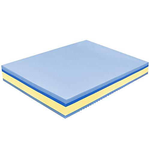Baldiflex - Materasso Matrimoniale Memory Plus Top 4 Strati 160 x 195 cm Alto 25 cm - Rivestimento Sfoderabile Silver Safe Cus. Saponetta incl.