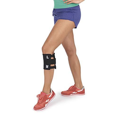 VITALmaxx Akupressur Knie Bandage Für Rückenbeschwerden   Lindert Rücken Schmerzen Mit Chinesischer Akupressur Technik   Kniebandage Damen Herren Individuell Anpassbar [Schwarz]