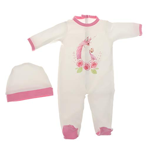 Baoblaze Puppen Kleidung Overall Pyjamas mit Hut für 18 Zoll Amerikanisches Mädchen Puppe - #3 -
