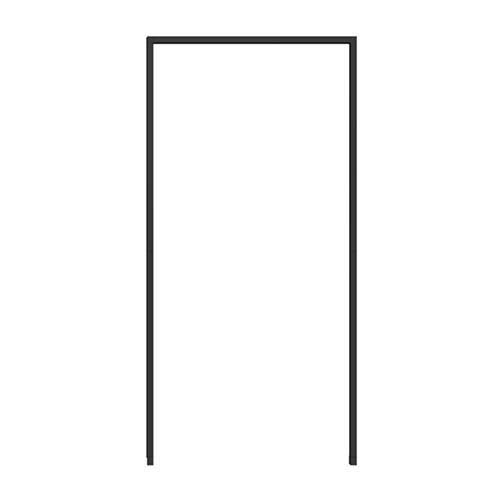 WIP Insektenschutz-Montagerahmen für Tür 125x245cm, anthrazit