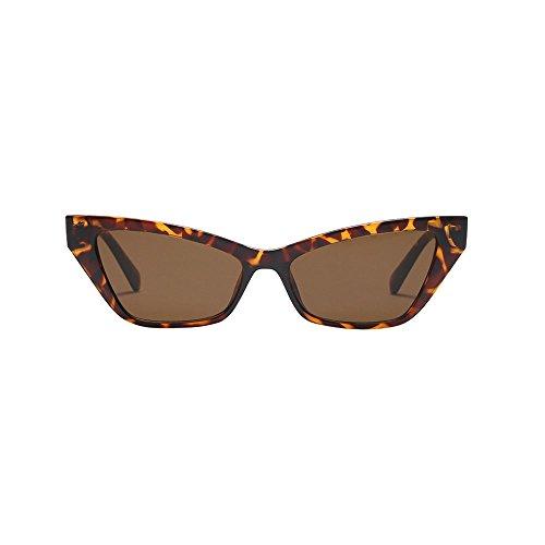 URIBAKY Unisex Vintage Cat Eye Sonnenbrillen,Retro Eyewear Brille Fashion UV400 Ladies Man