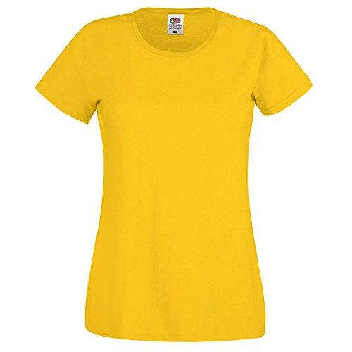 Fruit of the Loom Damen Modern T-Shirt Sonnenblume
