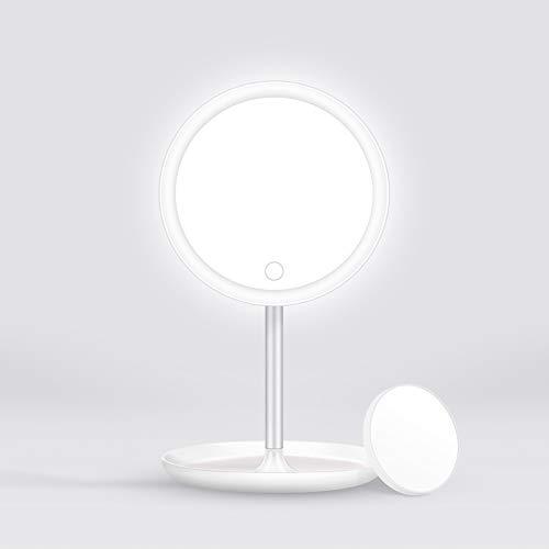 ELEHOT Kosmetikspiegel mit Licht LED Spiegel beleuchteter Schminkspiegel mit 5X...