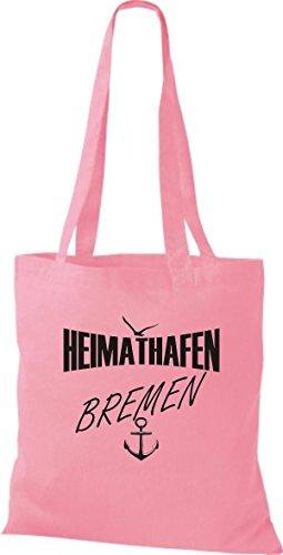 Shirtstown Stoffbeutell Heimathafen Bremen viele Farben Rosa