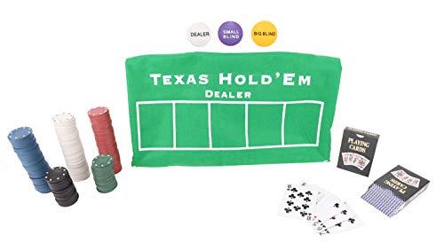 Toyland®Texas Hold'em und Blackjack-Kartenspielset - Casino-Spiele