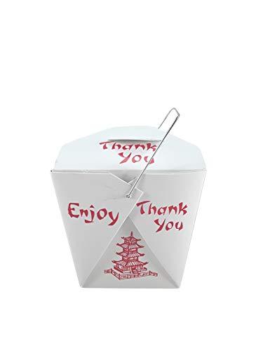 Chinesische Take Out Boxen Pagoda, 227 ml, für Partys und Lebensmittel 25 Pack weiß