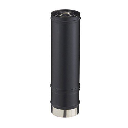 Elément réglable droit PGI longueur 39-56cm diamètre 80-130mm noir graphite (RAL 9030) Réf ER 80-130 PGI / 37080729