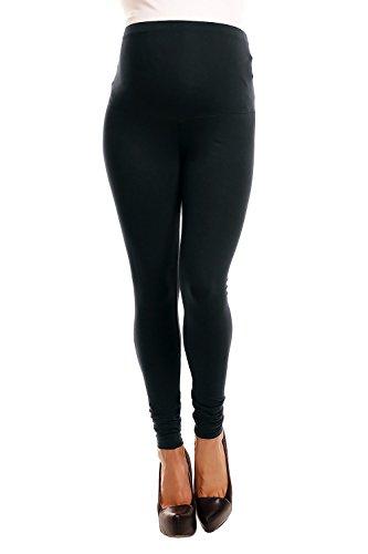 12fe66b60 Zeta Ville -Pantalón Leggins Premama Leggings Banda elastica - para mujer -  775c (Negro