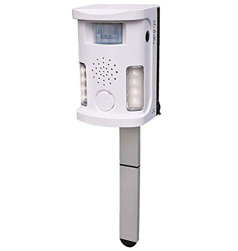 lektronischer Tiervertreiber mit Blitz, Licht und Alarm IP44 absolut wetterfest - gegen Katzen, Hunde, Marder, Vögel ()
