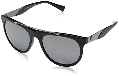 Versace Herren 0VE4347 GB1/6G 56 Sonnenbrille, Schwarz (Black/Greymirrorsilver)